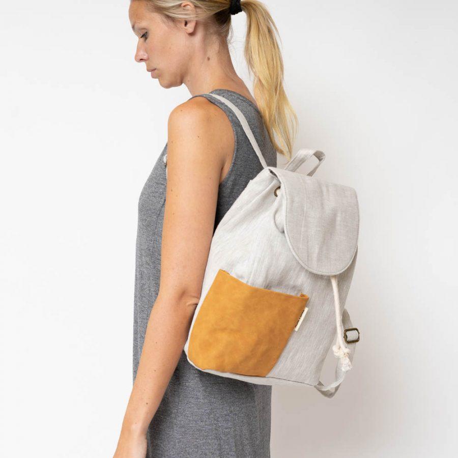 Haruo drawstring backpack - Fudge