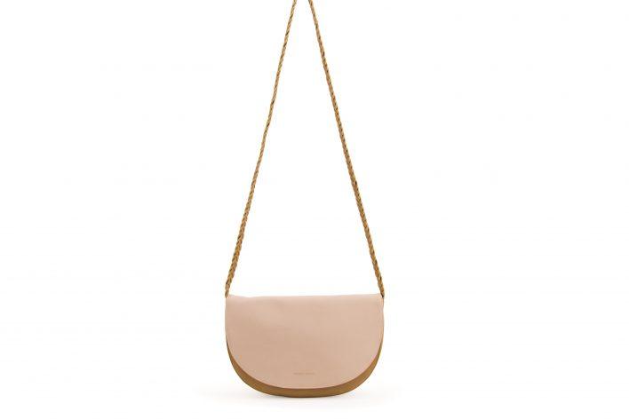 M&A – Soma halfmoon bag – caramel fudge + soft pink