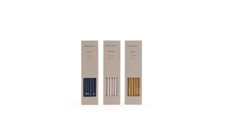 Monk & Anna – Pencils – Natural box