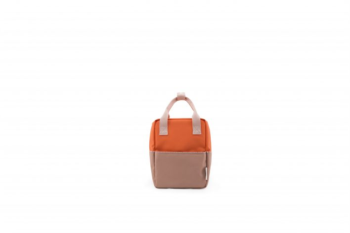 1801392 – Sticky Lemon – product – backpack small – colour blocking – royal orange, party pink, front
