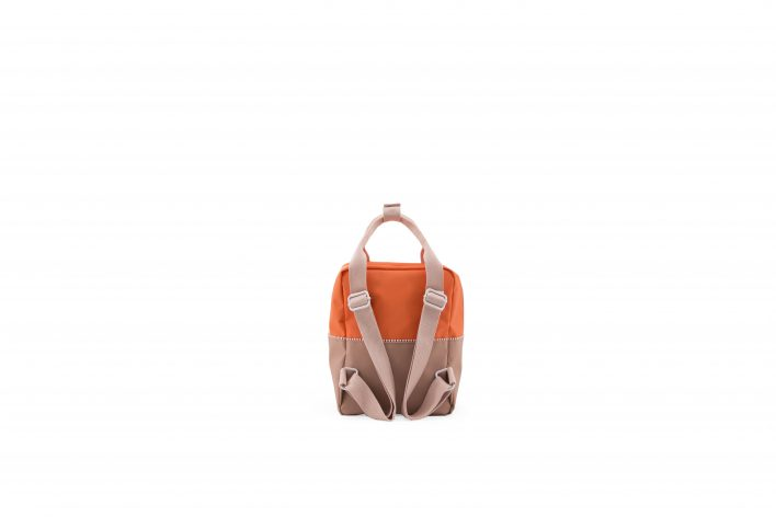1801392 – Sticky Lemon – product – backpack small – colour blocking – royal orange, pastry pink back