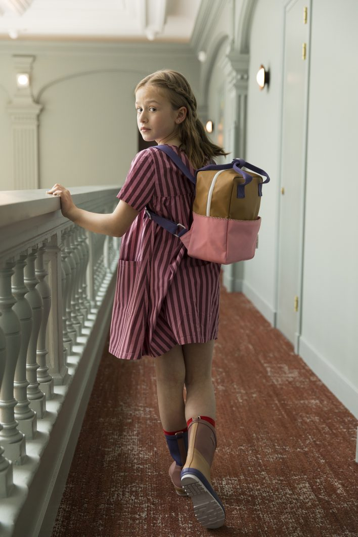 1801393 – Sticky Lemon – Style – Backpack small – panache gold _ puff pink _ lobby purple