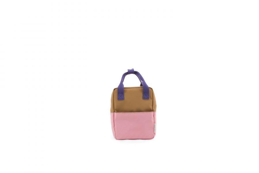 1801393 – Sticky Lemon – product – backpack small – colour blocking – panache gold, lobby purple