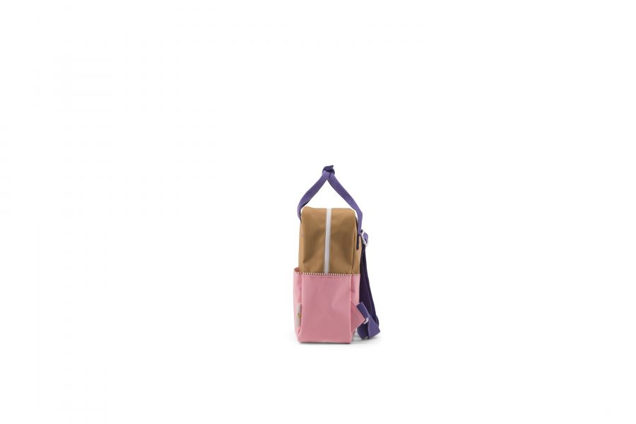 1801393 – Sticky Lemon – product – backpack small – colour blocking – panache gold, lobby purple side