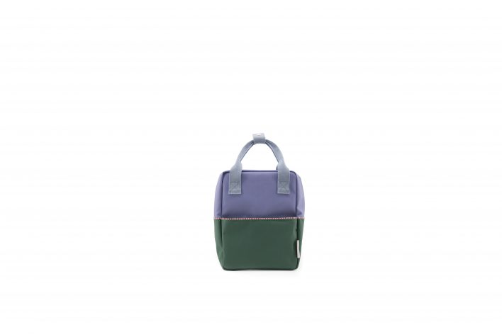 1801394 – Sticky Lemon – product – backpack small – colour blocking – moustafa purple, henckles front