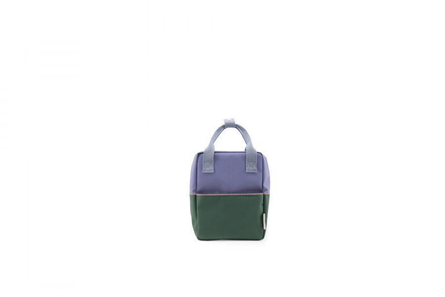 1801394 – Sticky Lemon – product – backpack small – colour blocking – moustafa purple, henckles front
