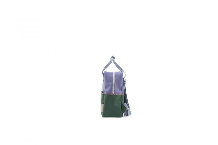 1801394 – Sticky Lemon – product – backpack small – colour blocking – moustafa purple, henckles side