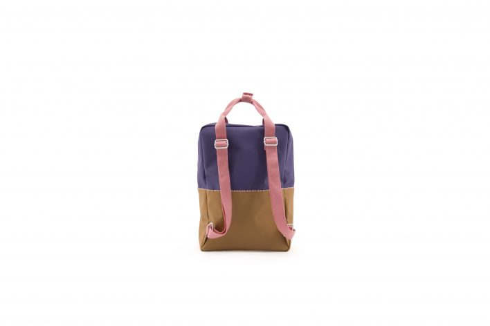 1801397 – Sticky Lemon – product – backpack large – colour blocking – panache gold, lobby purple