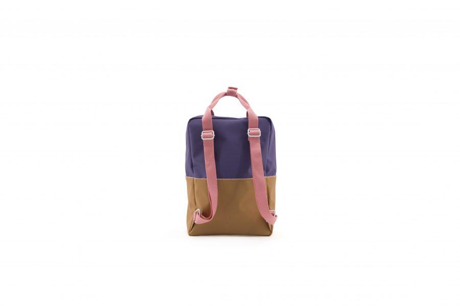 1801397 – Sticky Lemon – product – backpack large – colour blocking – panache gold, lobby purple