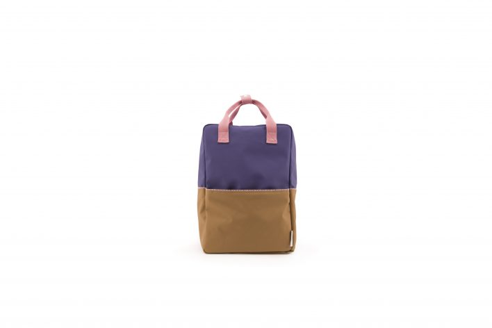 1801397 – Sticky Lemon – product – backpack large – colour blocking – panache gold, lobby purple front