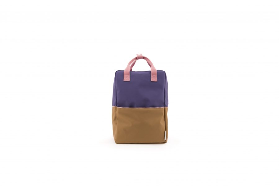 1801397 – Sticky Lemon – product – backpack large – colour blocking – panache gold, lobby purple front