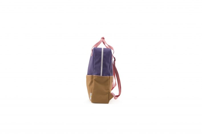 1801397 – Sticky Lemon – product – backpack large – colour blocking – panache gold, lobby purple side