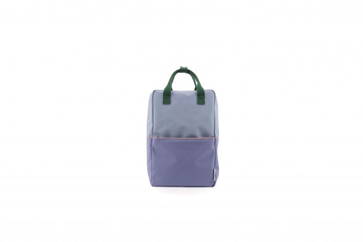 1801398 – Sticky Lemon – product – backpack large – colour blocking – moustafa purple, henckles front