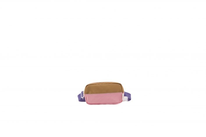 1801401 – Sticky Lemon – product – fanny pack – colour blocking – panache gold, lobby purple, pu