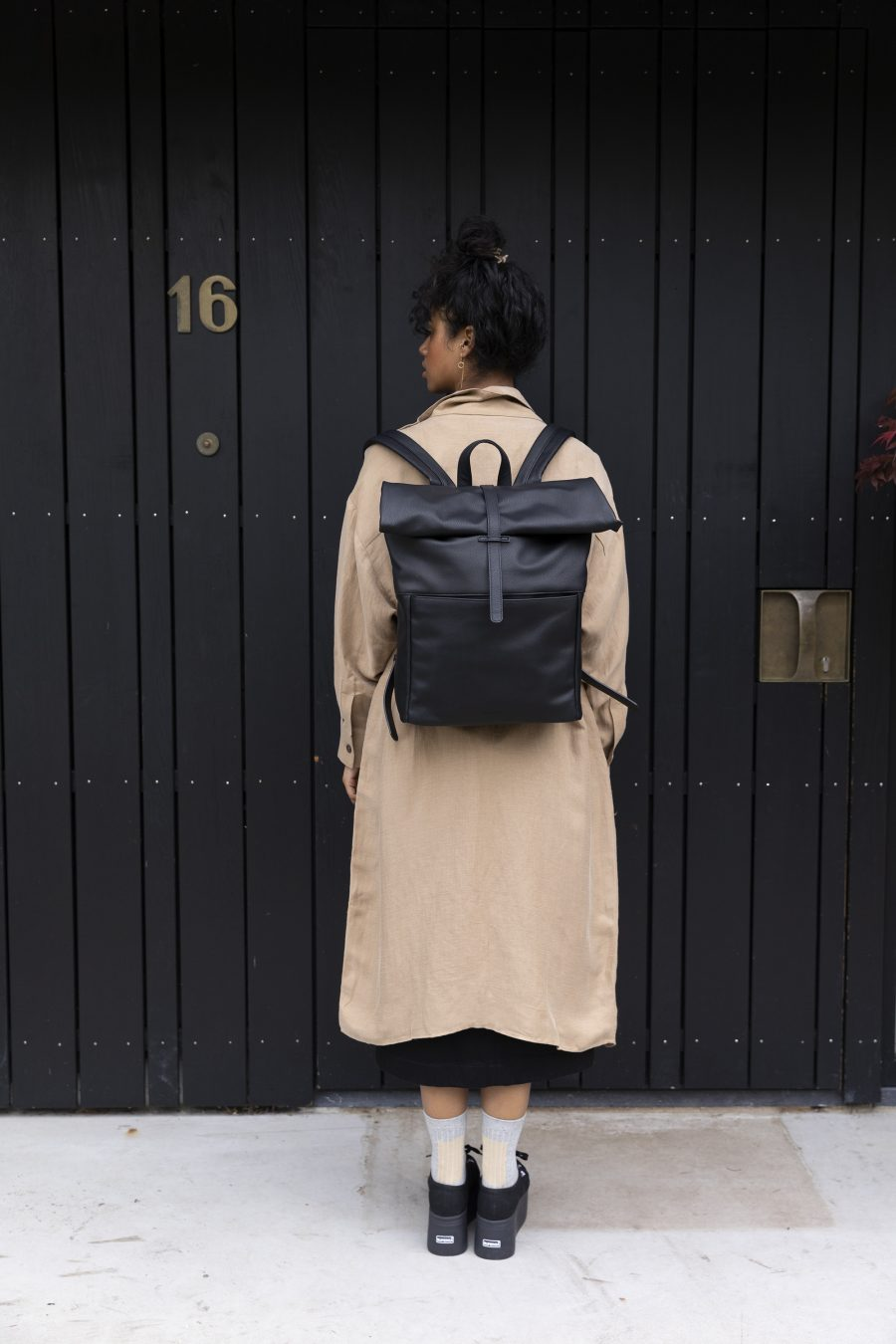 1601405 – Monk & Anna – style – Herb backpack – Black