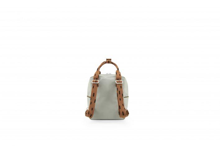1801529 – Sticky Lemon – backpack small – sprinkles – sage green _ cinnamon brown – back