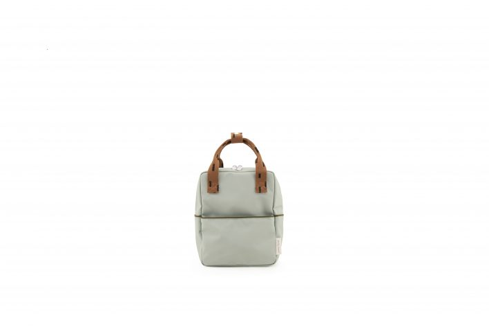 1801529 – Sticky Lemon – backpack small – sprinkles – sage green _ cinnamon brown – front