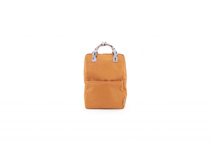 1801531 – Sticky Lemon – backpack large – sprinkles – apricot orange _ lavender – front