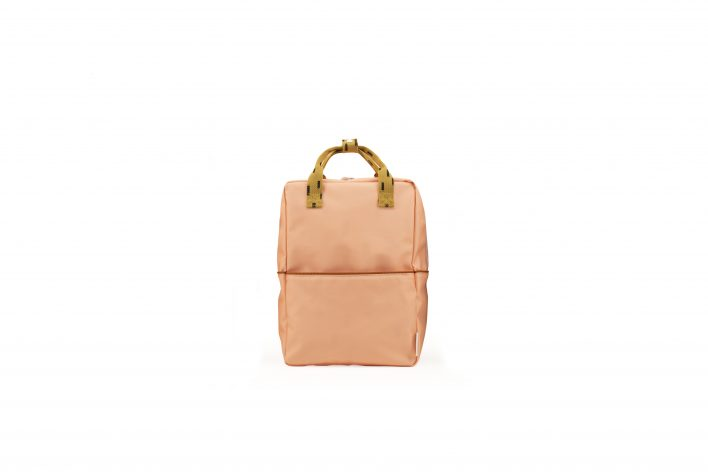 1801532 – Sticky Lemon – backpack large – sprinkles – lemonade pink _ panache gold – front
