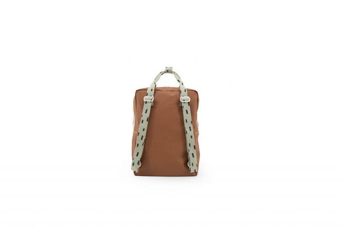 1801533 – Sticky Lemon – backpack large – sprinkles – cinnamon brown _ sage green – back