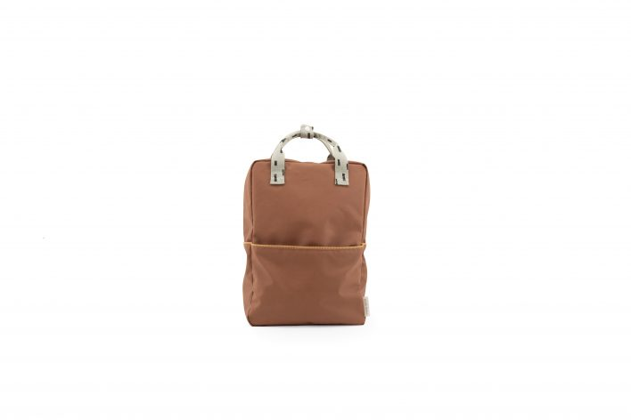 1801533 – Sticky Lemon – backpack large – sprinkles – cinnamon brown _ sage green – front