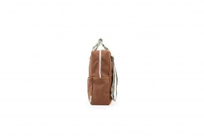 1801533 – Sticky Lemon – backpack large – sprinkles – cinnamon brown _ sage green – side