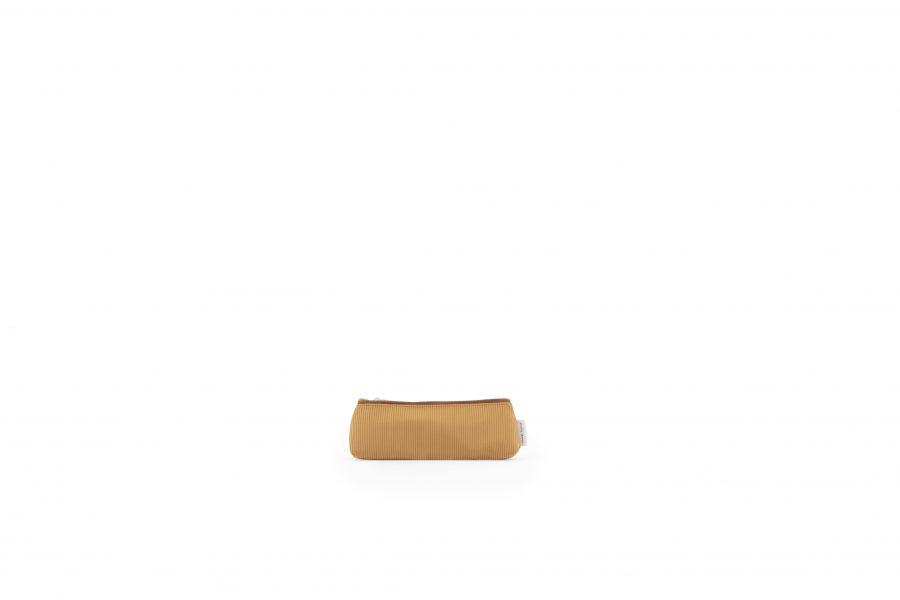 1801537 – Sticky Lemon – pencil case small – sprinkles – cantaloupe _ moss green – front