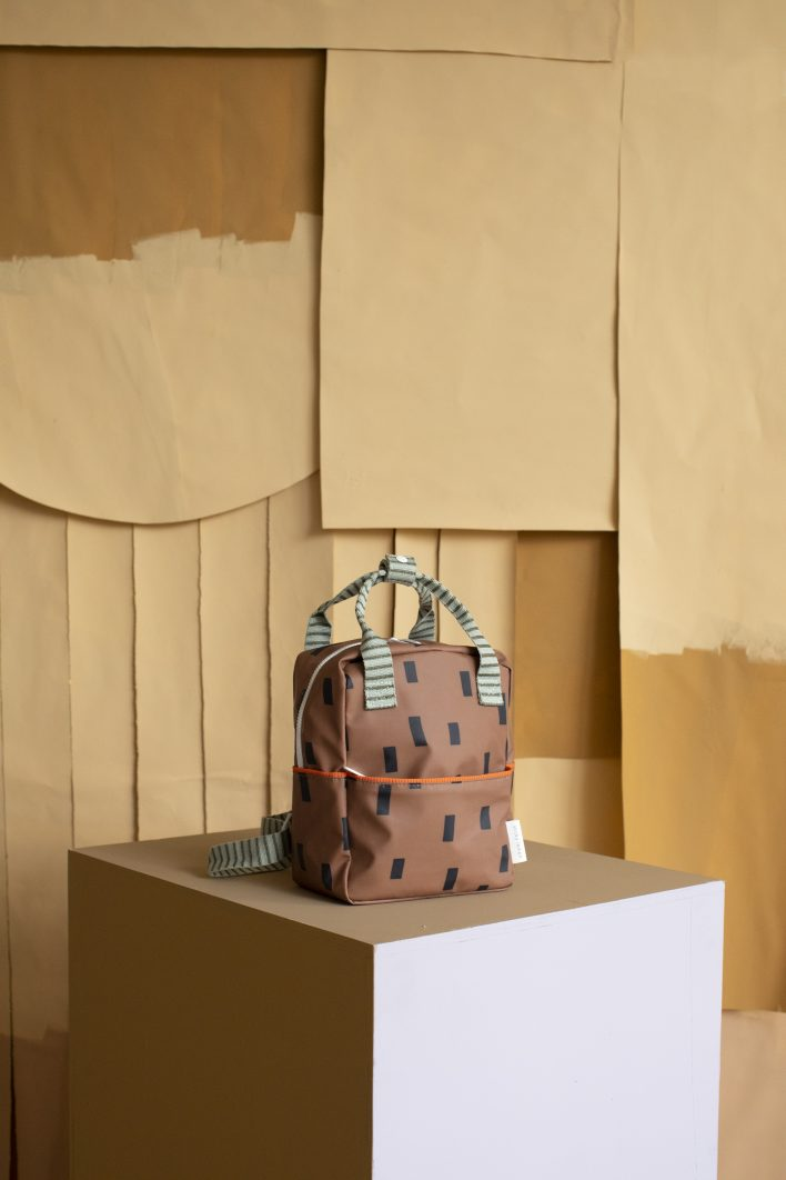 1801543 – Sticky Lemon – style – backpack small – special edition -cinnamon brown, sage green –