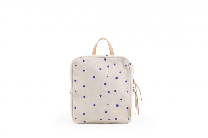1601127 – Monk&Anna – Kodomo – Backpack mini – Ink Blue Dots