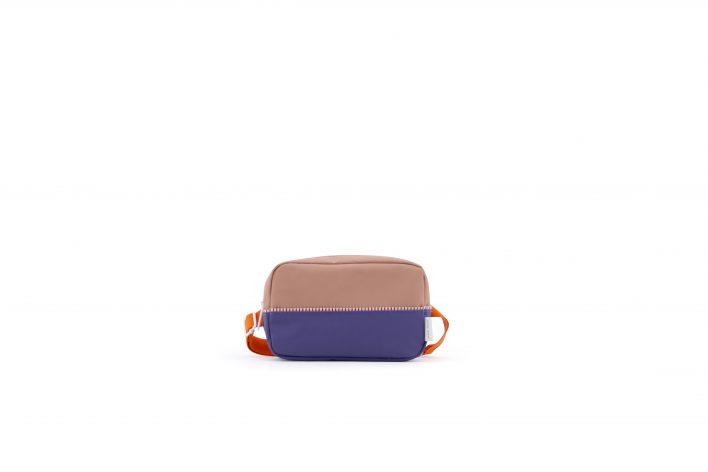 1801404 – Sticky Lemon – fanny pack large – colour blocking – chocolat au lait _ lobby purple _