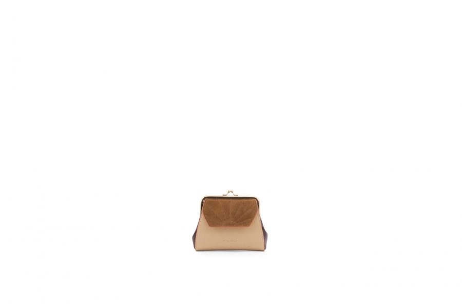 1801618 – Sticky Sis Club – Wallet – Clay beige + Grape purple – Front