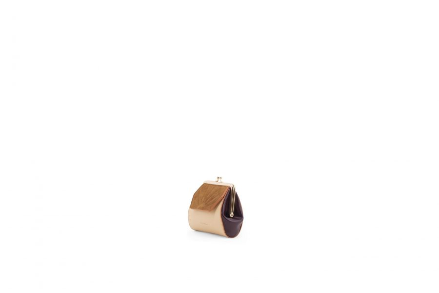1801618 – Sticky Sis Club – Wallet – Clay beige + Grape purple – Side