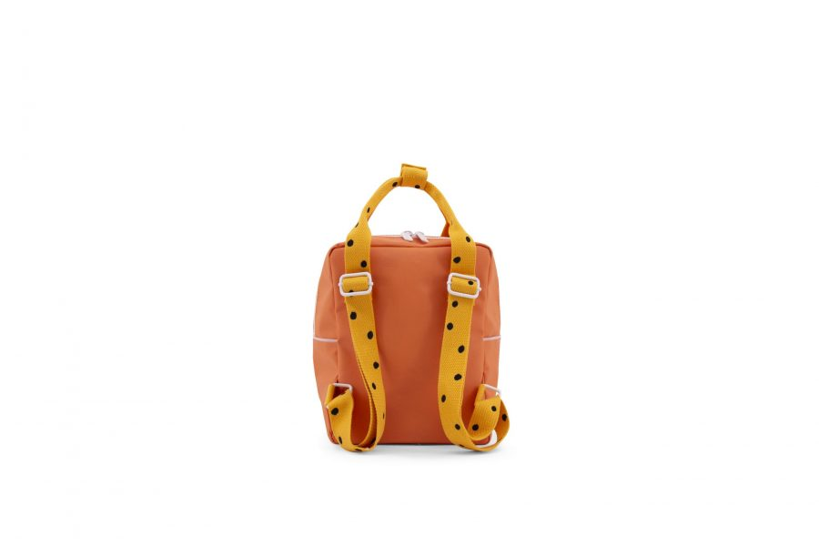 1801640 – Sticky Lemon – freckles – backpack small – carrot orange + sunny yellow + candy pink –