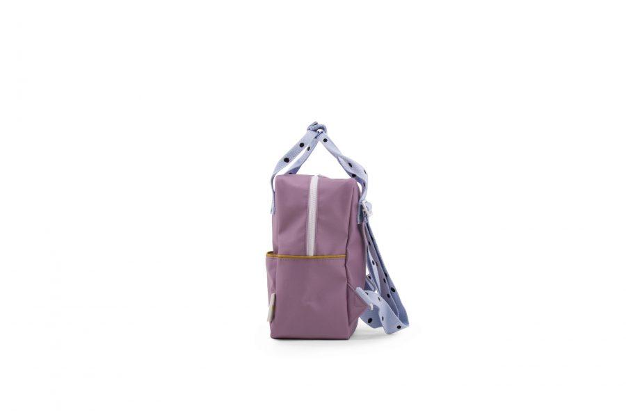 1801641 – Sticky Lemon – freckles – backpack small – pirate purple + sky blue + caramel fudge –