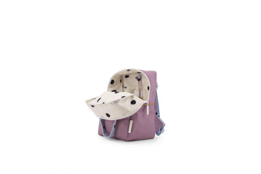 1801641 – Sticky Lemon – freckles – backpack small – pirate purple + sky blue + caramel fudge – (1)