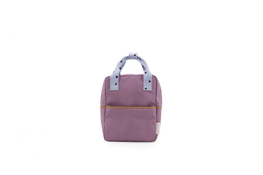 1801641 – Sticky Lemon – freckles – backpack small – pirate purple + sky blue + caramel fudge