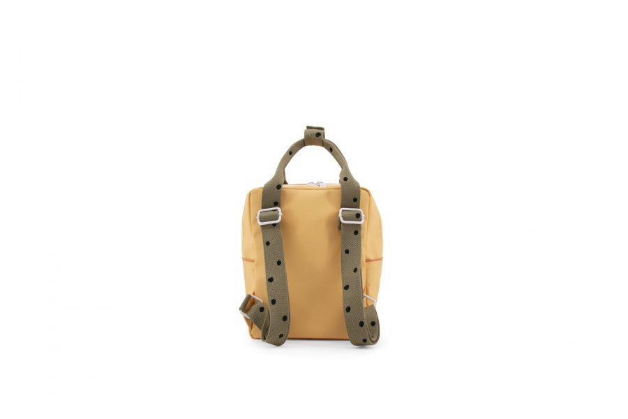 1801642 – Sticky Lemon – freckles – backpack small – retro yellow + seventies green + faded oran (1)