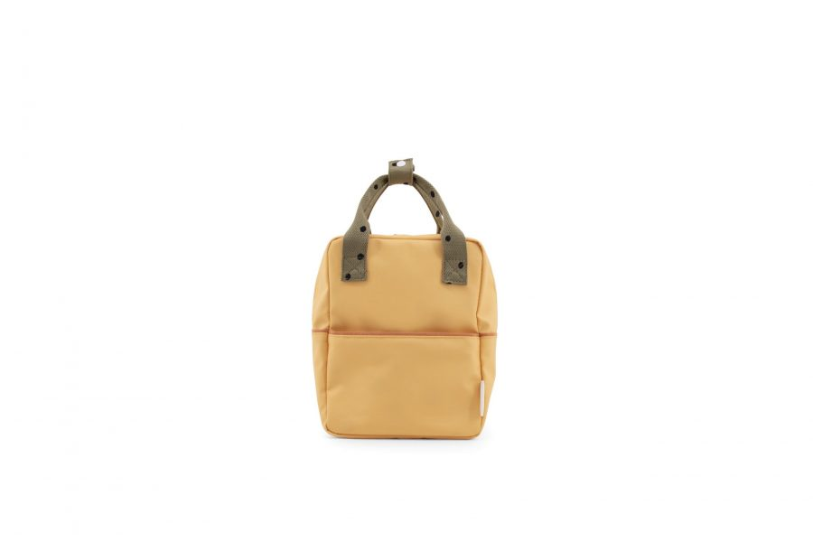 1801642 – Sticky Lemon – freckles – backpack small – retro yellow + seventies green + faded oran (3)