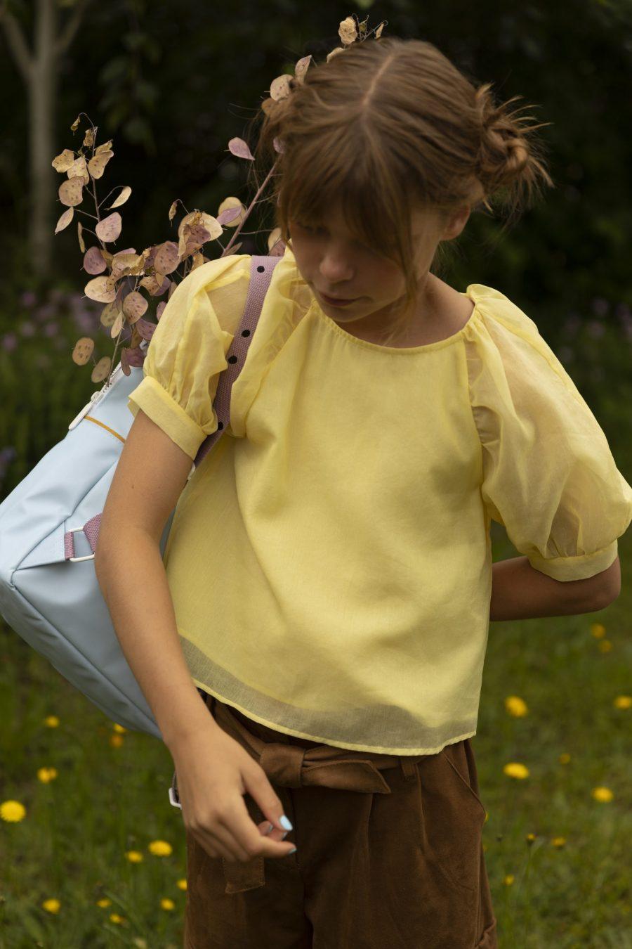 1801645 – Sticky Lemon – backpack large – freckles – sky blue + pirate purple – style shot 02