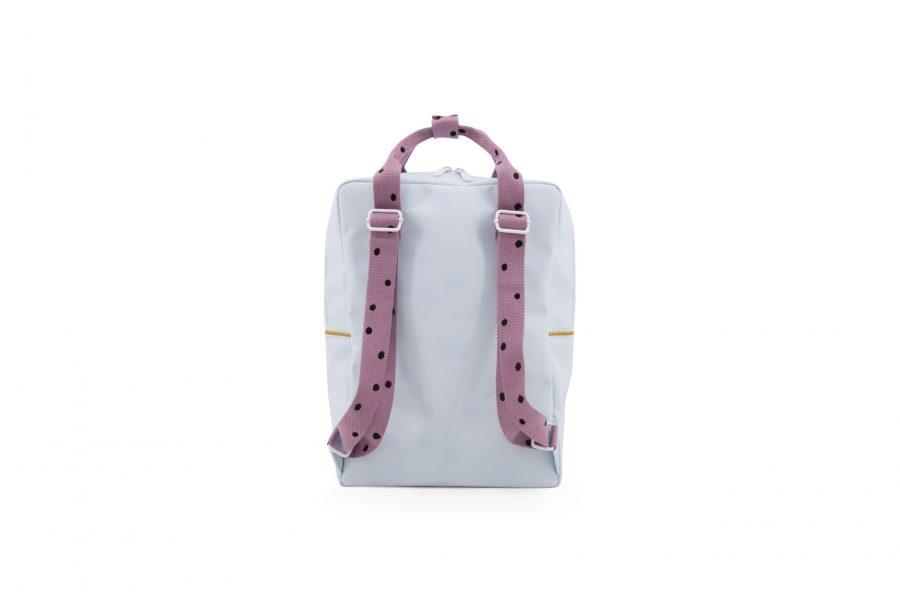 1801645 – Sticky Lemon – freckles – backpack large – sky blue + pirate purple + caramel fudge –