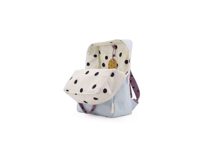 1801645 – Sticky Lemon – freckles – backpack large – sky blue + pirate purple + caramel fudge – (1)