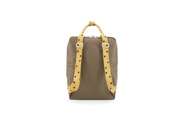 1801646 – Sticky Lemon – freckles – backpack large – seventies green + retro yellow + faded oran (1)