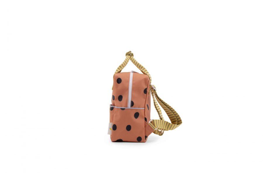 1801647 – Sticky Lemon – freckles – backpack small – faded orange – side