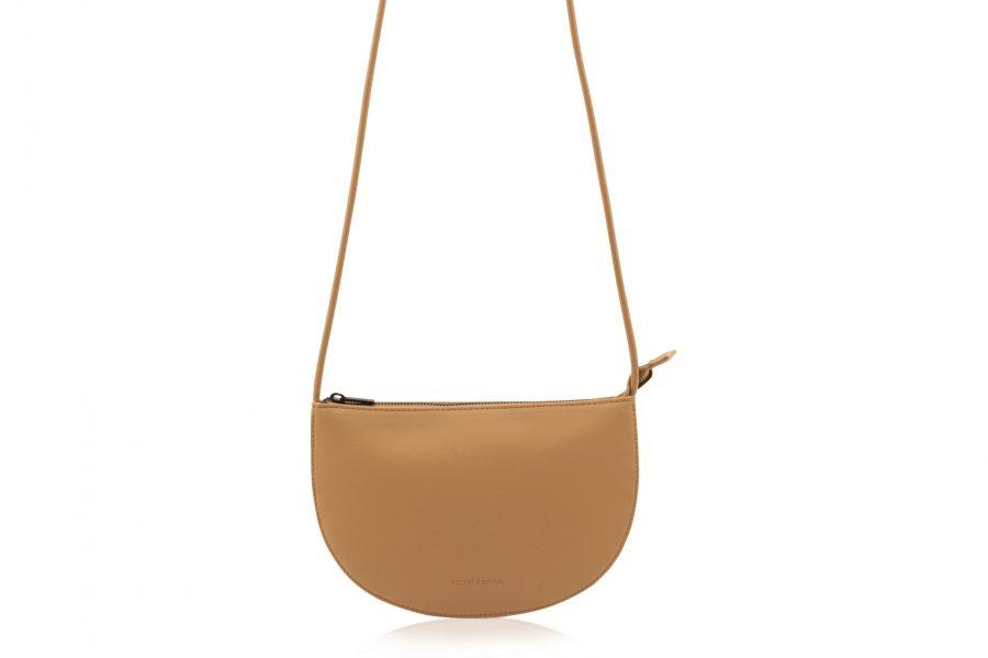 1601492 – Monk & Anna – product – Farou half moon bag – cashew – 2