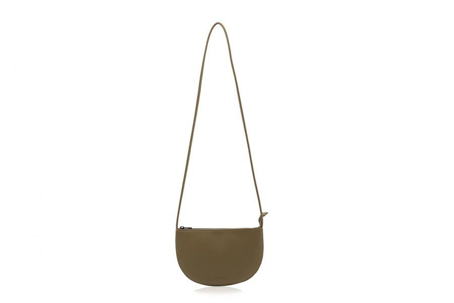 1601493 – Monk & Anna – product – Farou half moon bag – olive – 1