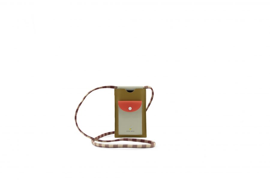 1801908 – Sticky Lemon – phone pouch – pool green – apple red – leaf green