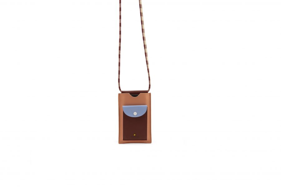 1801909 – Sticky Lemon – phone pouch – cherry red – sunny blue – berry swirl – hanging